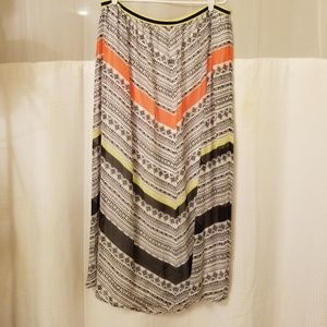 OLD NAVY NWOT LONG MULTI COLOR SKIRT SIZE XL